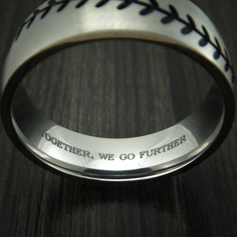 Titanium Ring with Custom Engraving