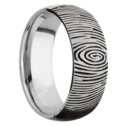 Ring with Fingerprint 2 Pattern