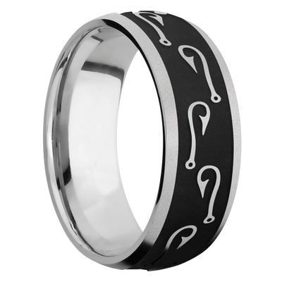 Ring with Fishhooks Pattern