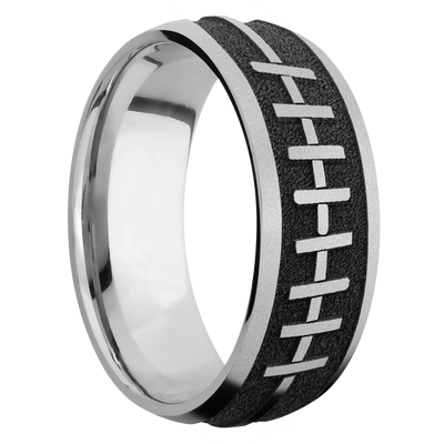 Ring with Football Pattern