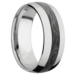 Ring with Forged Carbon Fiber Inlay