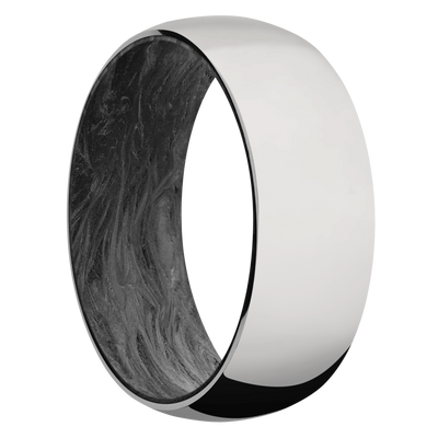 Ring with Forged Carbon Fiber Sleeve