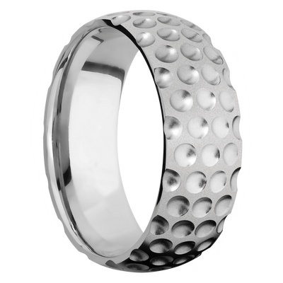 Ring with Golf Pattern