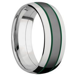 Ring with Green Cerakote Inlay