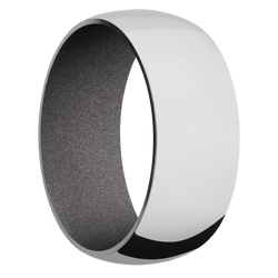 Ring with Gun Metal Grey Sleeve