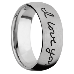 Ring with Hand Writing Pattern