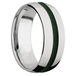 Ring with Highland Green Cerakote Inlay
