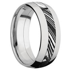 Tumble Finish Kuro Damascus Steel Ring