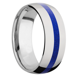Ring with Lapis Inlay