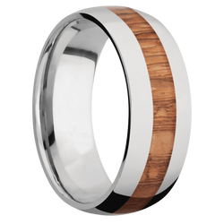 Ring with Leopard Wood Inlay