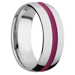Ring with Magenta Cerakote Inlay