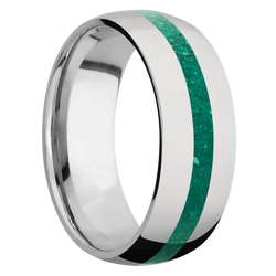 Ring with Malachite Inlay