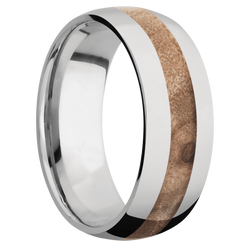 Ring with Maple Burl Inlay