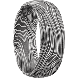 Marble Damascus Steel Ring