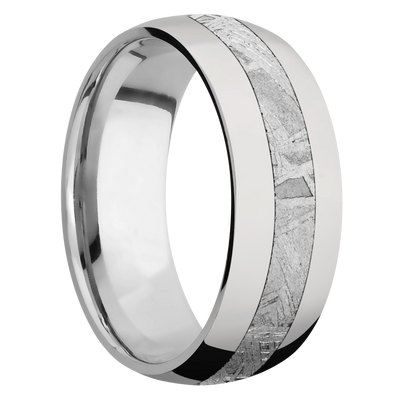 Ring with Meteorite Inlay