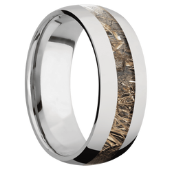 Ring with MossyOak Duck Blind Camo Inlay