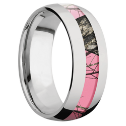 Ring with MossyOak Pink Breakup Camo Inlay