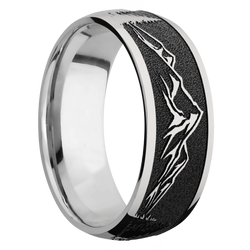 Ring with Mountain 2 Pattern