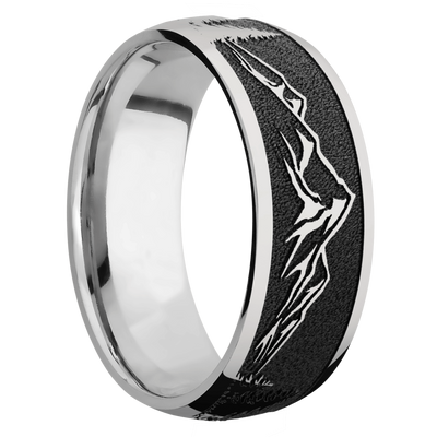 Ring with Mountain Pattern