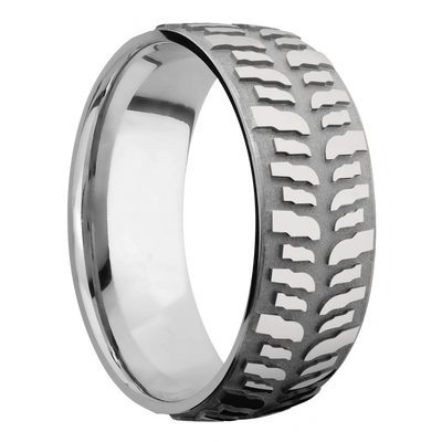 Ring with Mud Tire Pattern
