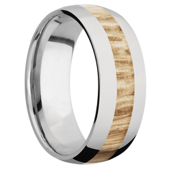 Ring with Natural Oak Inlay