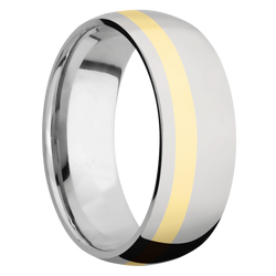 Ring with Off-Center Inlay