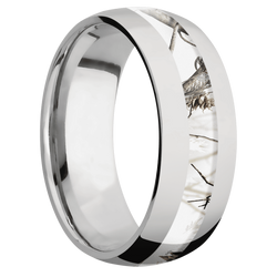 Ring with RealTree APC Snow Camo Inlay
