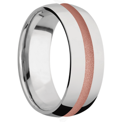 Ring with Rose Gold Cerakote Inlay