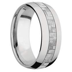 Ring with Silver Texalium Inlay