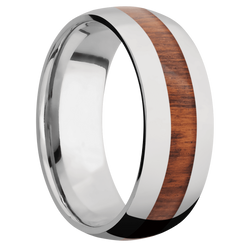 Ring with Snake Wood Inlay