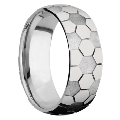 Ring with Soccer Pattern