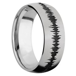 Ring with Soundwave Pattern