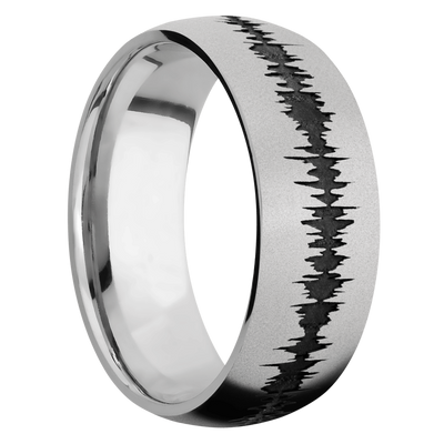Ring with Sound Wave Pattern