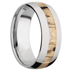 Ring with Spalted Tamarind Inlay