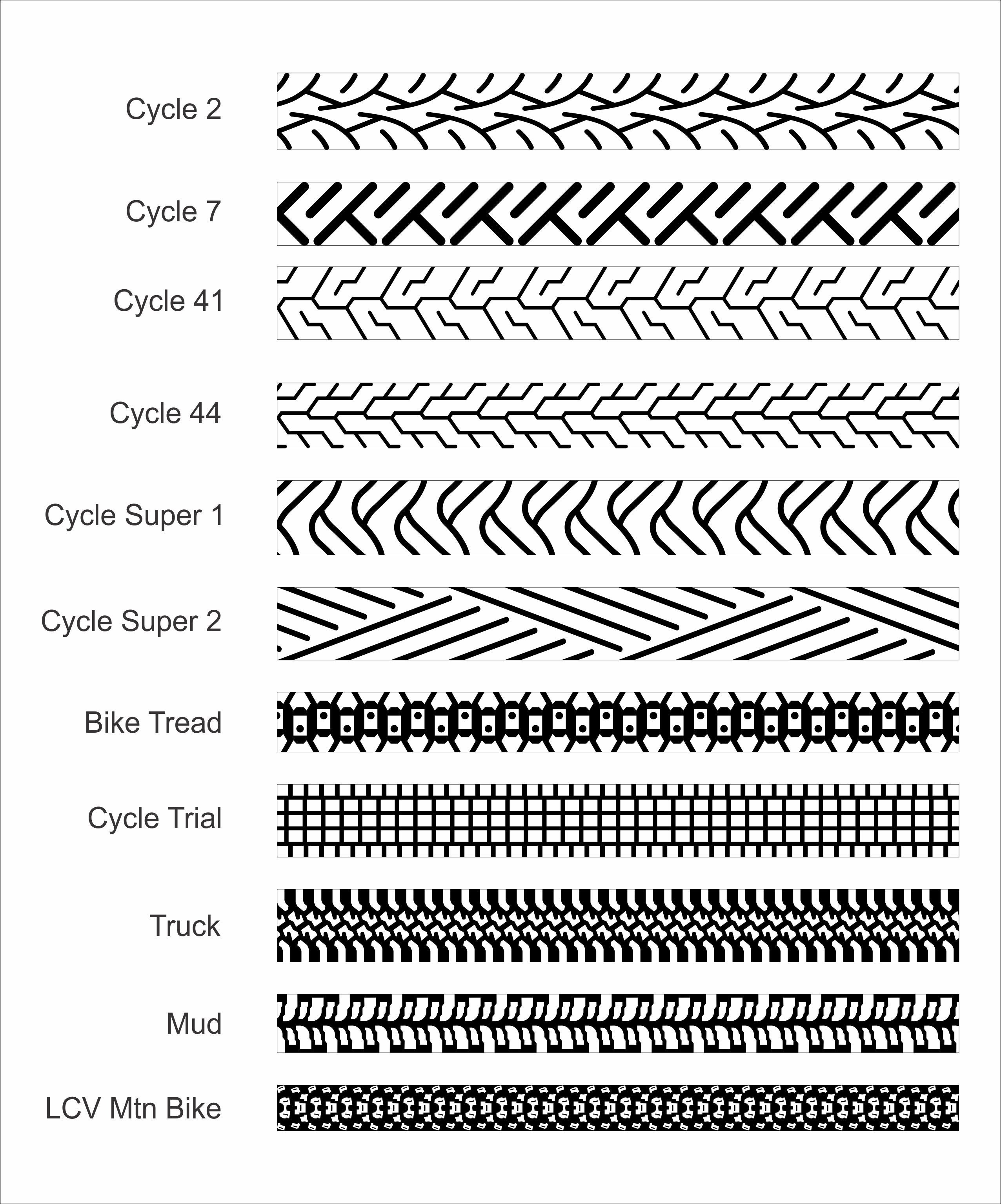 Tire Tread Patterns for Men's Wedding Bands