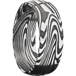 Sunset Damascus Steel Ring
