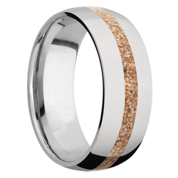Ring with Tan Dinosaur Bone Inlay