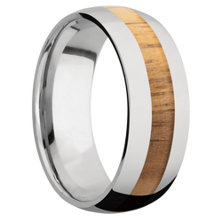 Ring with Teak Inlay
