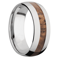 Ring with Thuya Burl Inlay