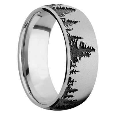 Ring with Trees Pattern