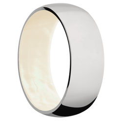 Ring with Freshwater Mother of Pearl Sleeve