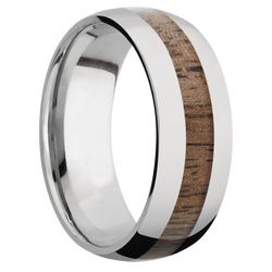 Ring with Walnut Inlay