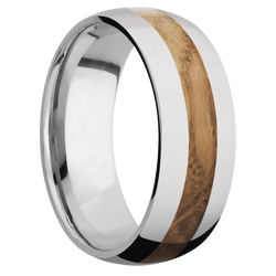 Ring with Whiskey Barrel Inlay