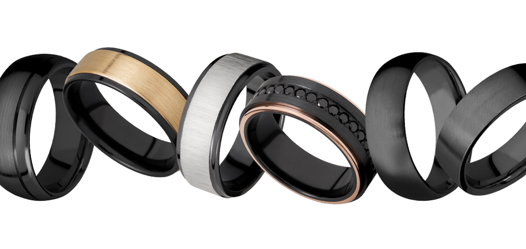 Lashbrook Black Zirconium Rings