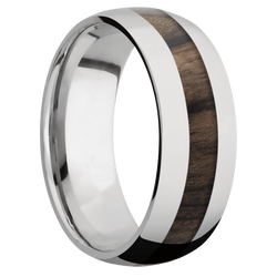 Ring with Ziricote Inlay