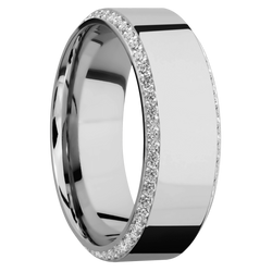 Ring with Bevel Eternity Gemstones