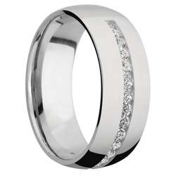 Ring with Half Eternity Gemstones