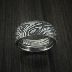 Kuro Damascus Steel Men's Wedding Band