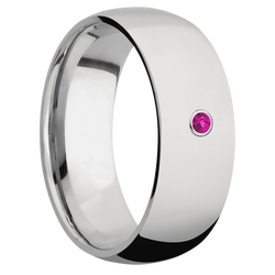 Ring with Dark Pink Sapphire