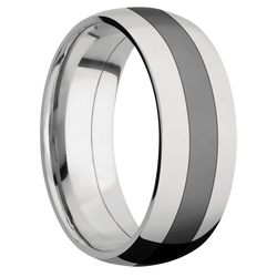 Ring with Black Zirconium Inlay